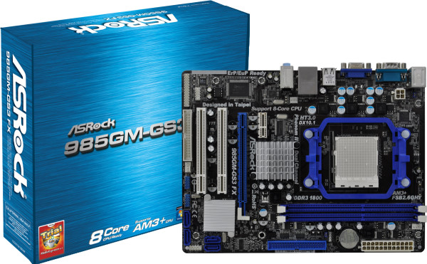 ASRock sAM3+ 985GM-GS3 FX