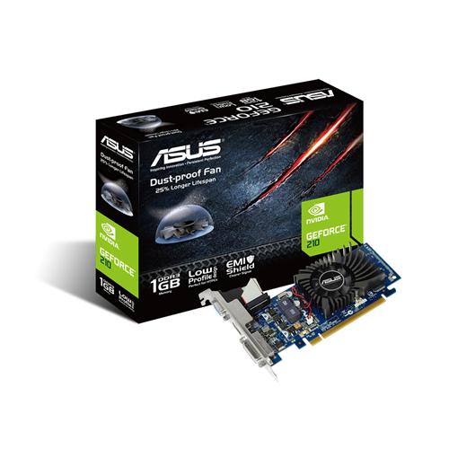 Asus PCIe NVIDIA 210 1GB DDR3 - 210-1GD3-L