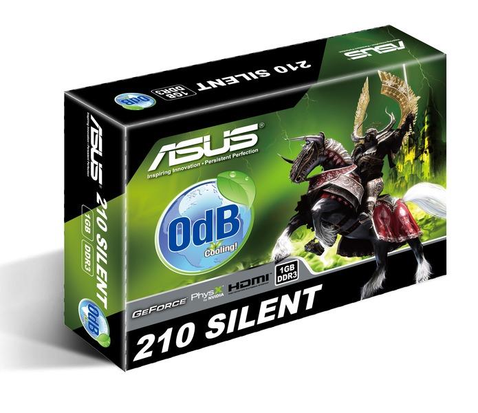 Asus PCIe NVIDIA 210 1GB DDR3 - EN210 SILENT/DI/1GD3/V2(LP)