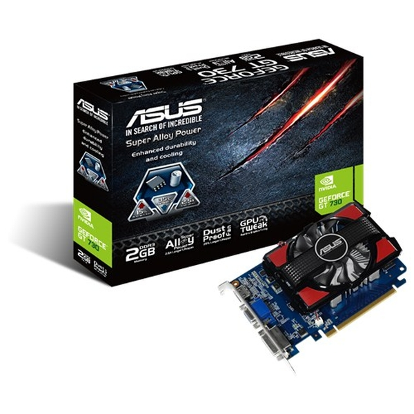 Asus PCIe NVIDIA GT 730 2GB DDR3 - GT730-2GD3