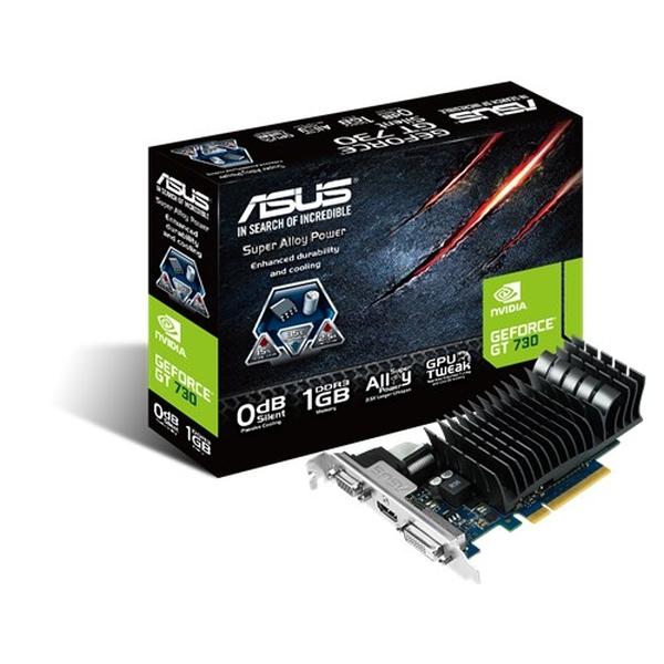 Asus PCIe NVIDIA GT 730 1GB DDR3 - GT730-SL-1GD3-BRK