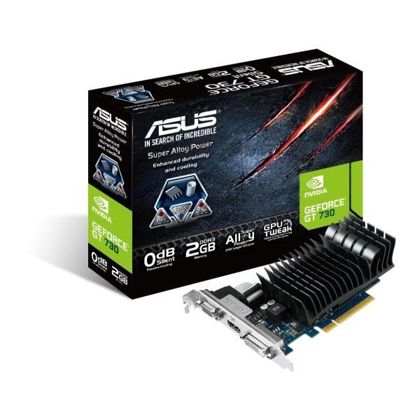Asus PCIe NVIDIA GT 730 2GB DDR3 - GT730-SL-2GD3-BRK