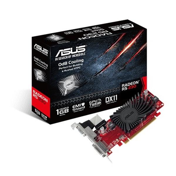 Asus PCIe AMD R5 230 1GB DDR3 - R5230-SL-1GD3-L