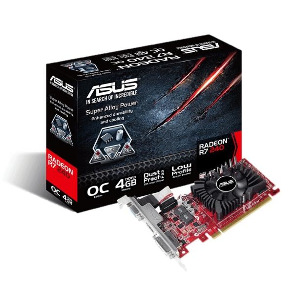 Asus PCIe AMD R7 240 4GB DDR3 - R7240-OC-4GD3-L