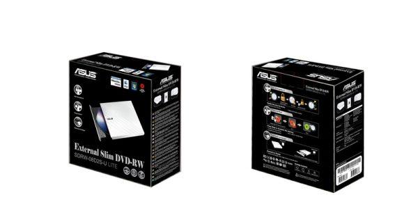 Külső DVD író Asus SDRW-08D2S-U Lite Fehér Dobozos Slim