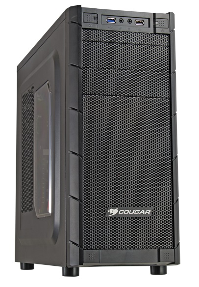 Cougar Midi Gaming Archon - ablakos - Fekete