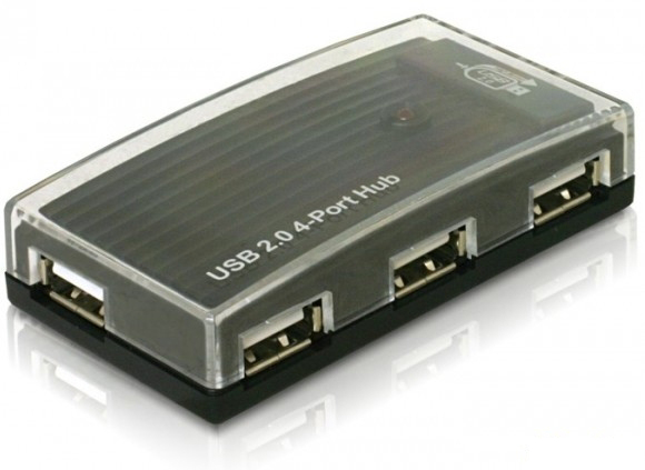 Delock 61393 USB 2.0 4portos külső hub
