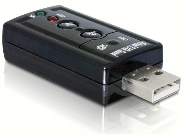 Delock 61645 USB Sound Box 7.1