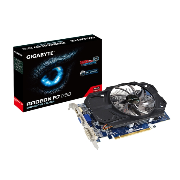 Gigabyte PCIe AMD R7 250 2GB DDR3 - GV-R725OC-2GI