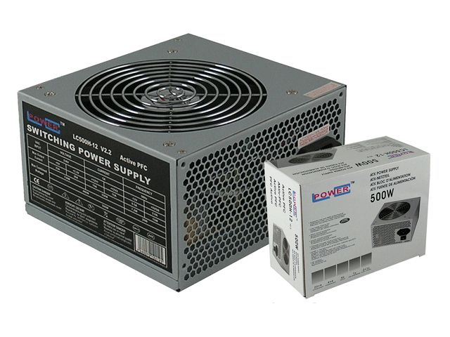 LC Power 500W LC500H-12 V2.2 Office Series