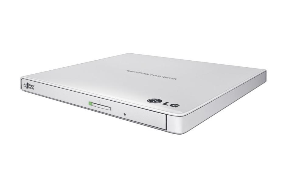 Külső DVD író LG GP57EW40 Dobozos Ultrakeskeny - Fehér
