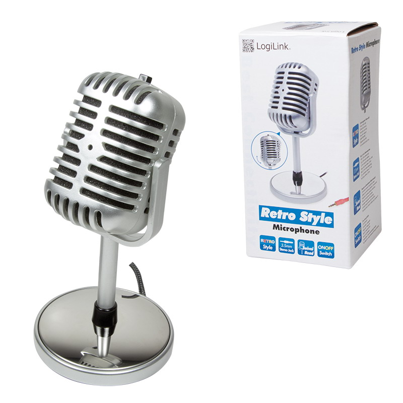 LogiLink HS0036 Retro Style mikrofon