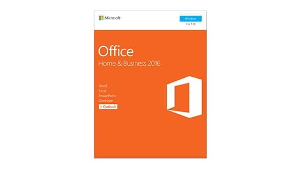 MS Office 2016 Home and Business 32/64bit EuroZone English Medialess P2